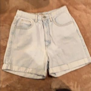 Vintage high waisted Guess jean shorts